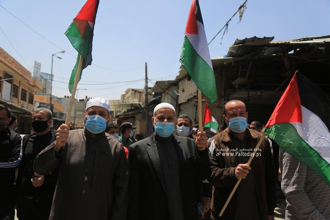 الجهاد الإسلامي في غزة تنظم وقفة اسنادية للمرابطين في المسجد الأقصى (1).JPG