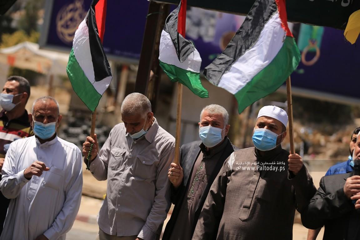 الجهاد الإسلامي في غزة تنظم وقفة اسنادية للمرابطين في المسجد الأقصى (14).JPG