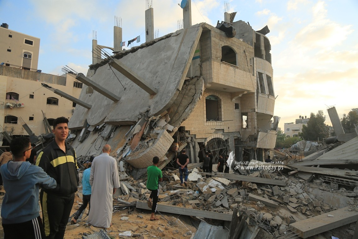 منازل المدمرة إثر القصف (15).JPG