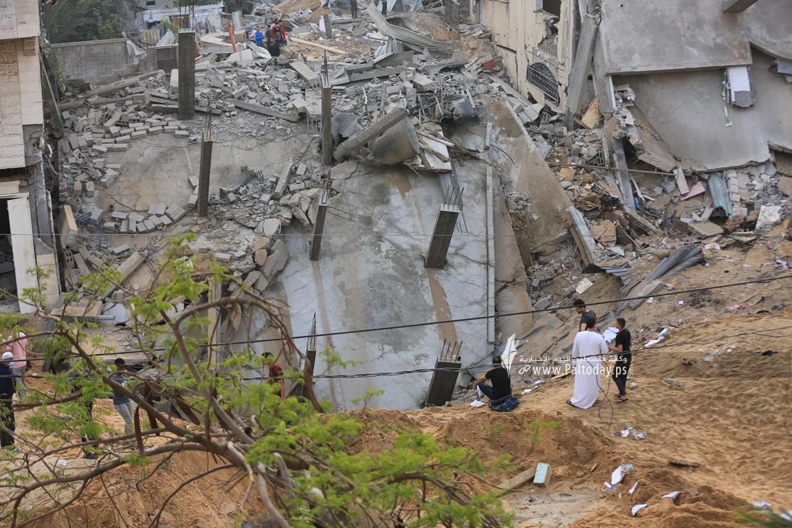 منازل المدمرة إثر القصف (30).JPG