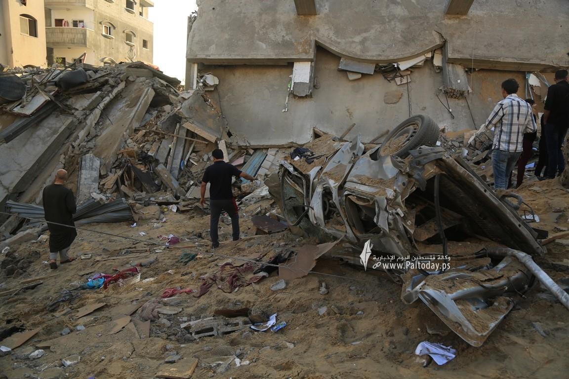 منازل المدمرة إثر القصف (11).JPG