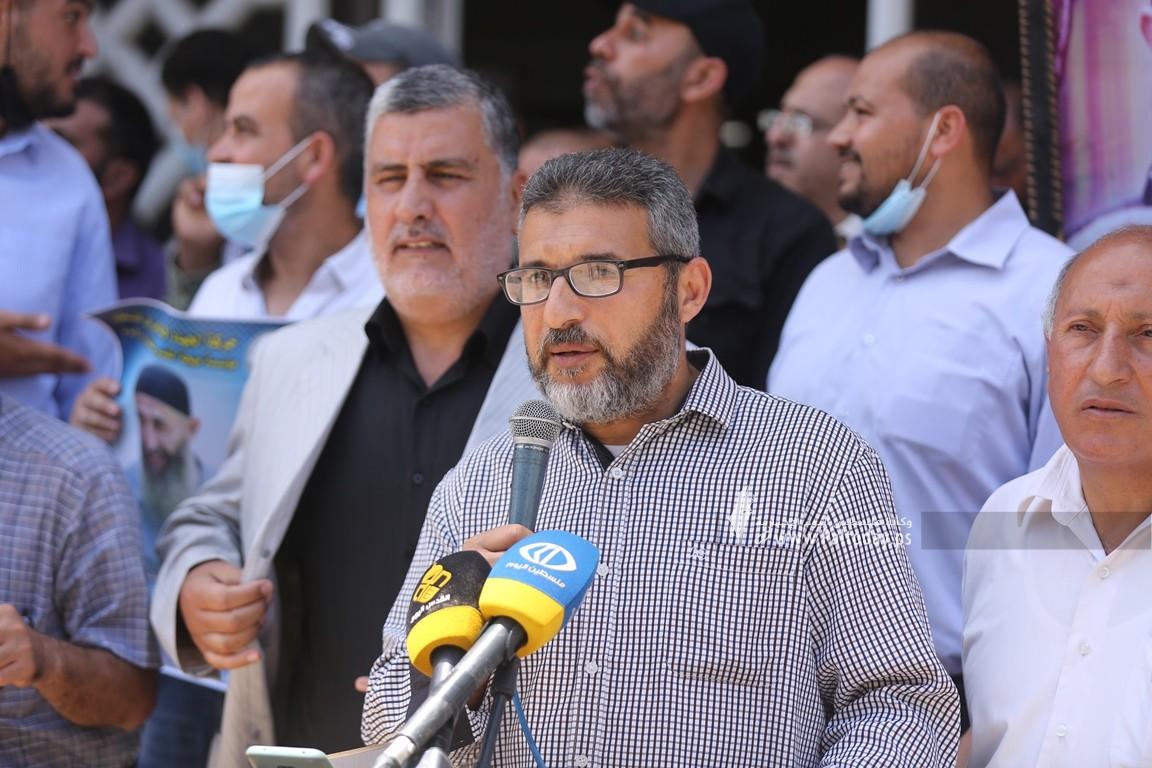 مهجة القدس تنظم وقفة دعم واسناد للشيخ خضر عدنان الذي اعتقلته قوات الاحتلال فجراً (16).JPG