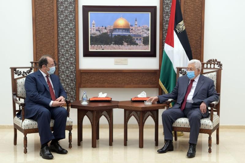 عباس يلتقي رئيس المخابرات المصرية عباس كامل في رام الله