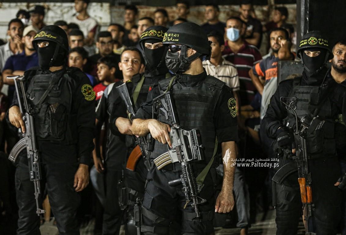 تابين شهداء الاعداد بحى الشجاعية سرايا القدس (25).JPG