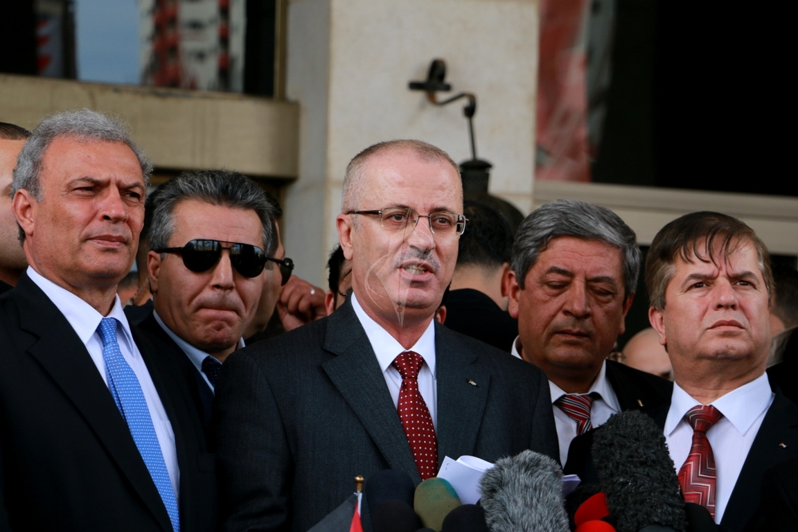 رئيس الوزراء رامى الحمدالله بغزة (271793304) 