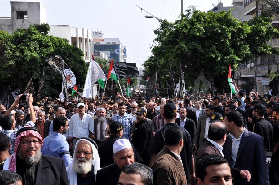 جماهير في المسيرة