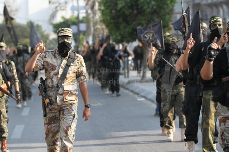 سرايا القدس تنظم مسيراً ومؤتمراً عسكرياً
