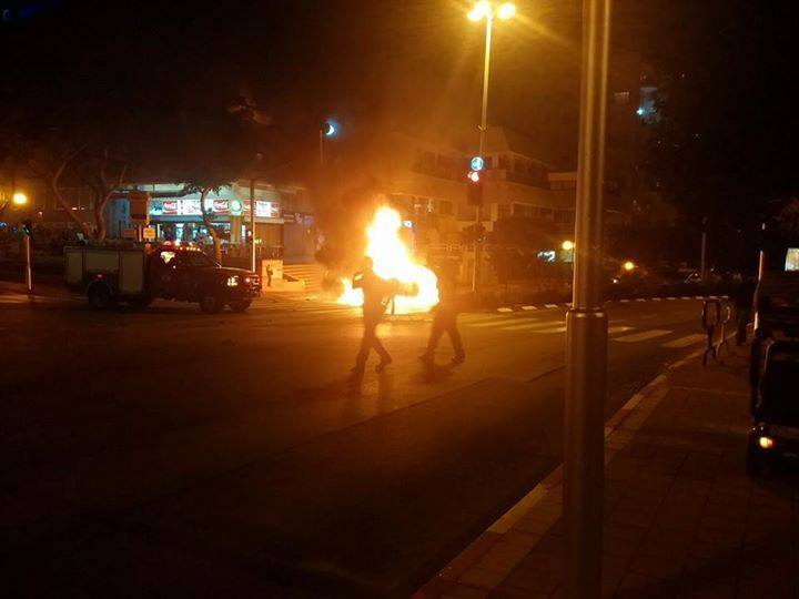انفجار سيارة في إسرائيل