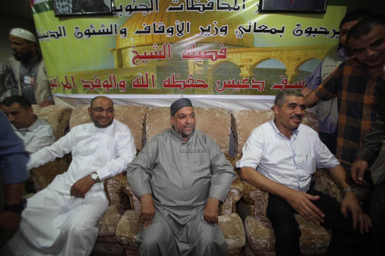 وزير الاوقاف وبعثة الحج يتفقدون الحجاج الفلسطينيين في مكة في اجواء وحدوية