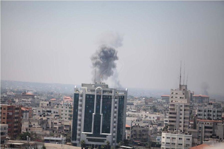 قصف  غارات الصهيونية