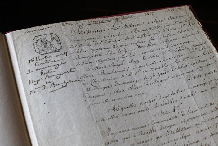 عقد زواج نابليون بنونابرت