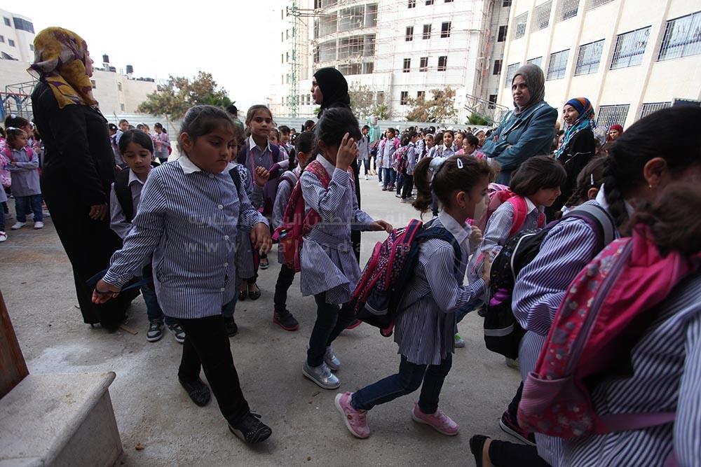 افتتاح العام الدراسي الجديد في مدارس الضفة الغربية