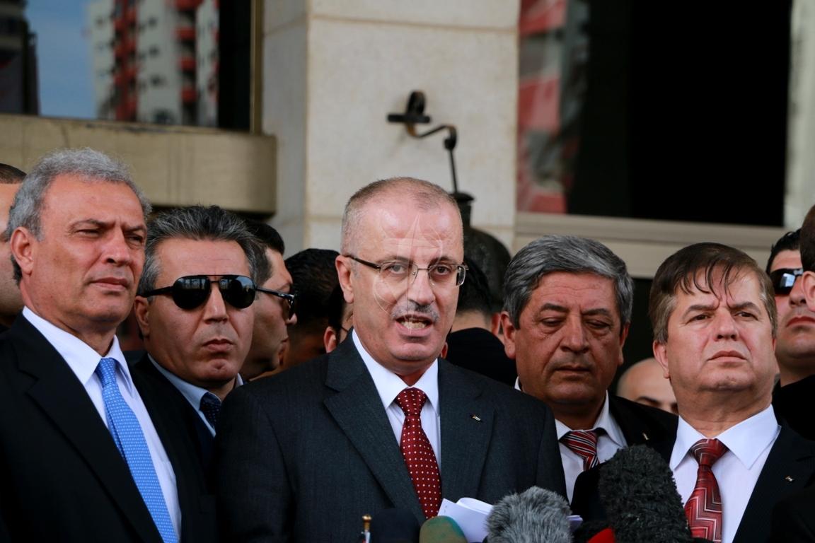 رئيس الوزراء رامى الحمدالله بغزة (271793301) 