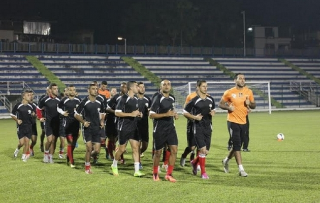 من تدريبات المنتخب الوطني