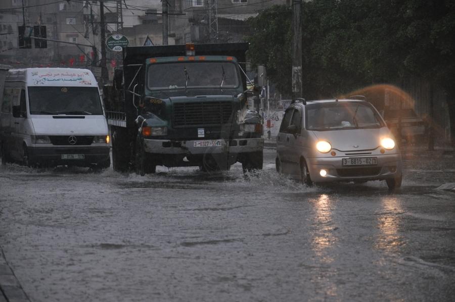 أجواء المنخفض الجوى في قطاع غزة