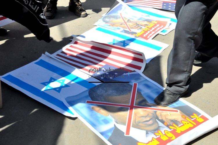 أوباما يحترق في غزة