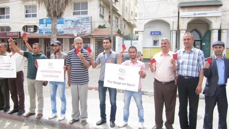 الوقفة التضامنية لتعليق عضوية إسرائيل بالفيفا (12)