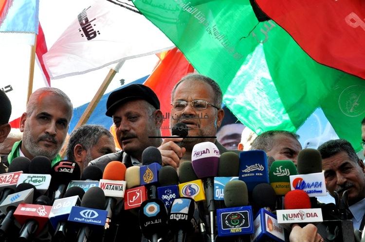 مسيرات بغزة مع الشهيد جرادات