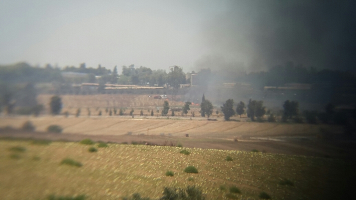 اندلاع حريق في اسرائيل