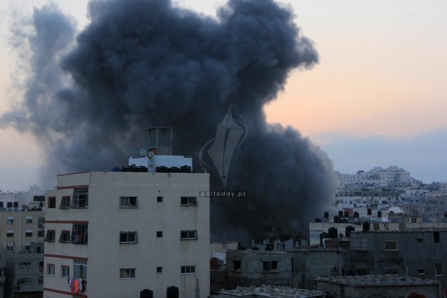 قصف منزل عائلة الغلاييني فجرا اليوم