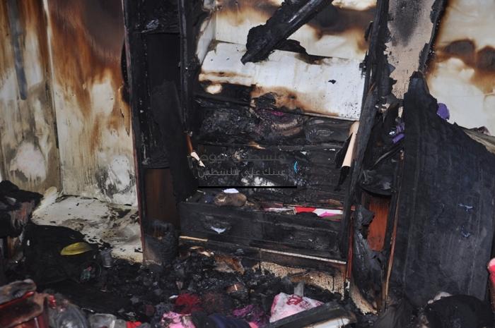حريق منزل عائلة ضهير