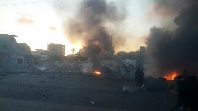 انفجار في غزة