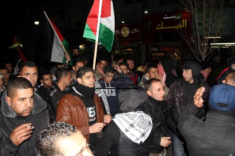 مسيرات الضفة عقب استشهاد عرفات