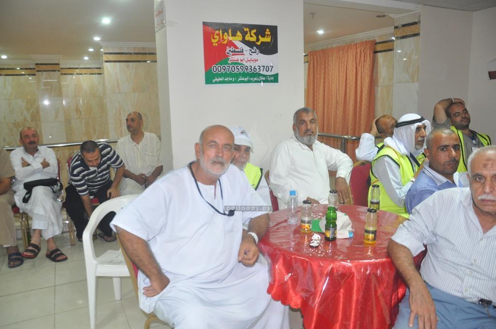 وزير الاوقاف ولجنة الحج يتفقدون حجاج غزة في مكة المكرمة