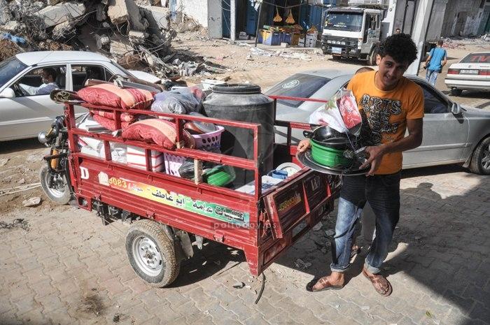 الحياة تعود لشرق مدينة غزة