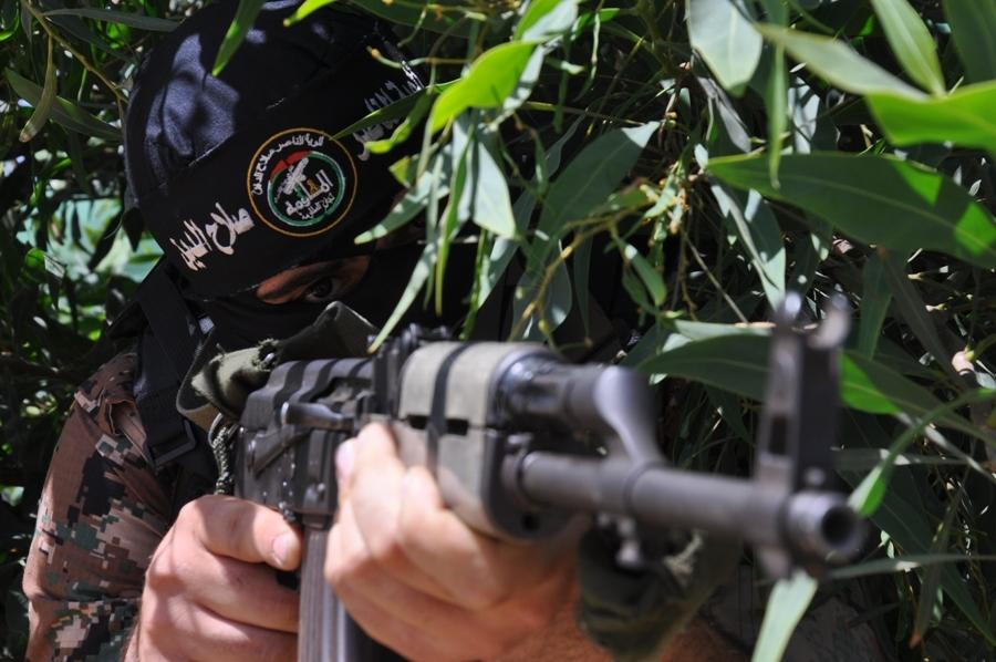 بالصور.. المقاومون يستعدون لأي تصعيد صهيوني على غزة