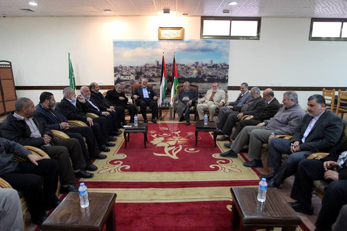 أجتماع قيادة الجهاد مع قيادة حماس  (1)