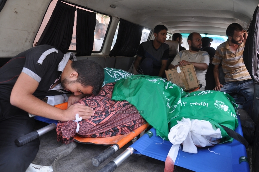 شهداء مجزرة عائلة البطش شرق غزة