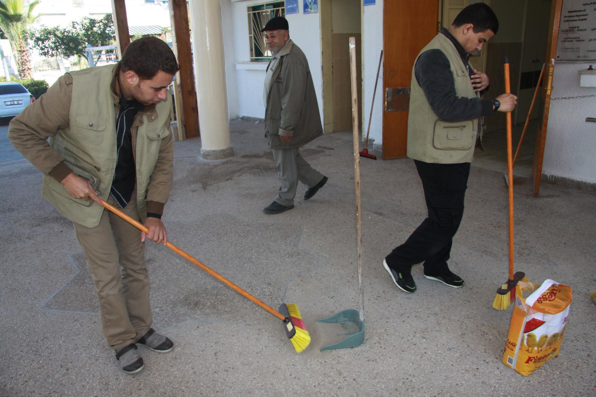 حملة جمعية إخاء لتنظيف مشفى الشفاء