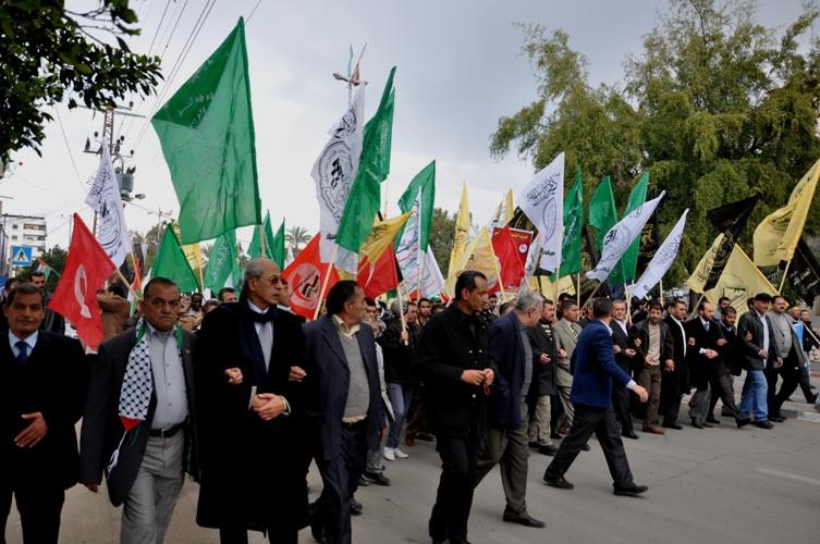 مسيرة تضامنية مع الاسرى