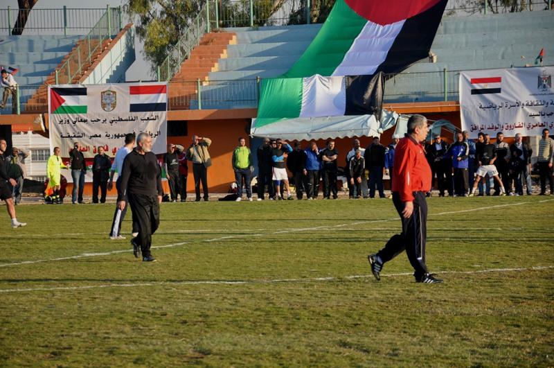 منتخب مصر بغزة