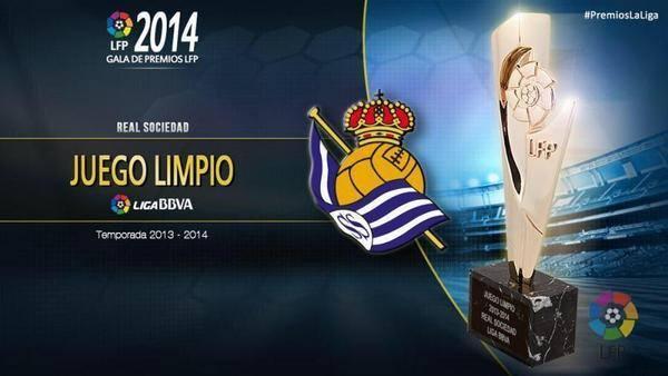 جائزة اللعب النظيف لنادي ريال سوسيداد .