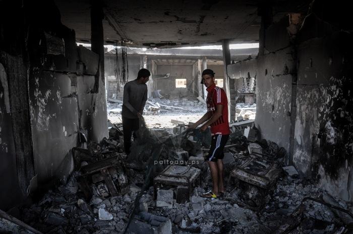 ميناء غزة دمار2014