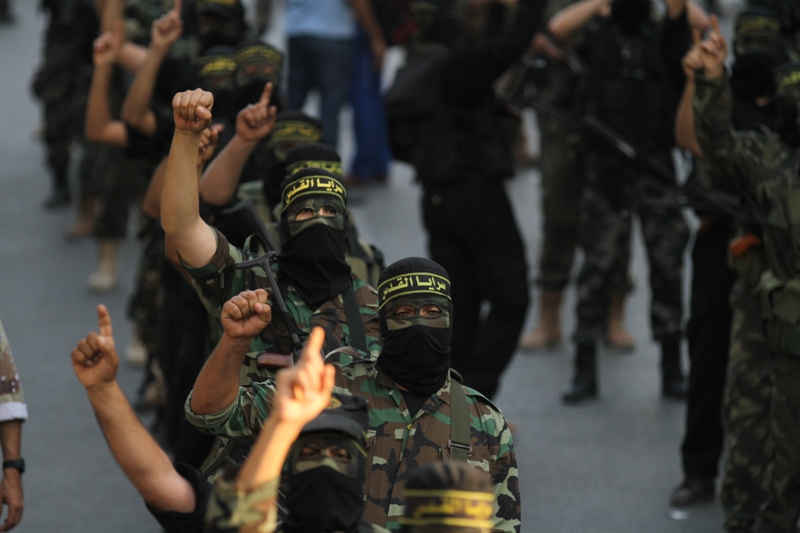 العرض العسكري لسرايا القدس في ذكرى حرب السماء الزرقاء