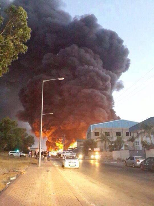 حريق في سديروت