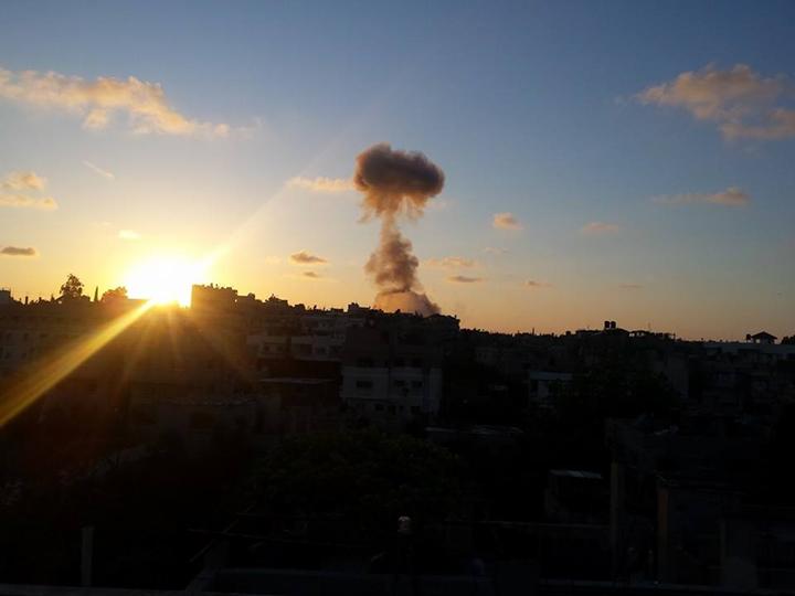 انفجار بغزة