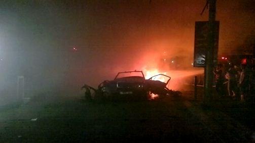 قصف سيارة