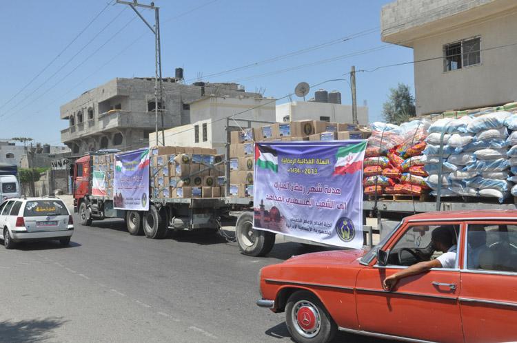 توزيع 40 ألف سلة غذائية من الجمهورية الإسلامية إلى الشعب الفلسطيني المحاصر في غزة