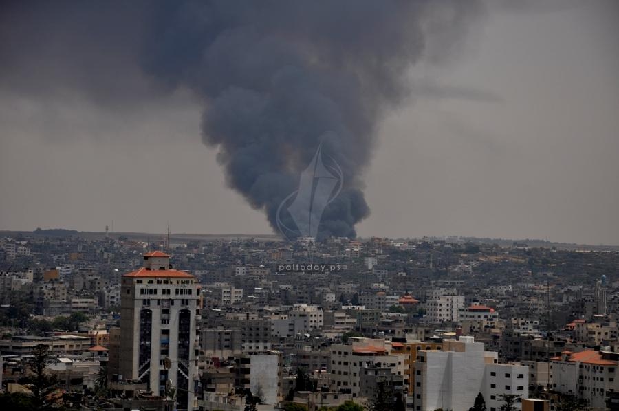 حريق كبير داخل المنطقة الصناعية