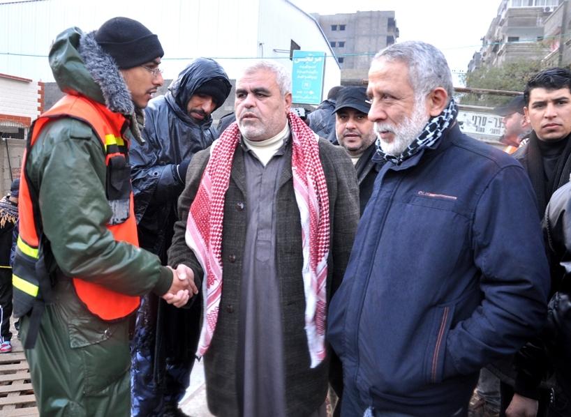 الجهاد الإسلامي تقوم بحملة إغاثة للمتضررين جراء الفيضانات التي ضربت القطاع