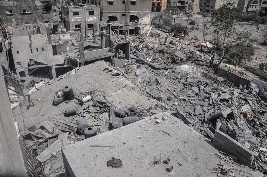 الركام الذي خلفه الاحتلال الإسرائيلي خلال عدوانه على غزة