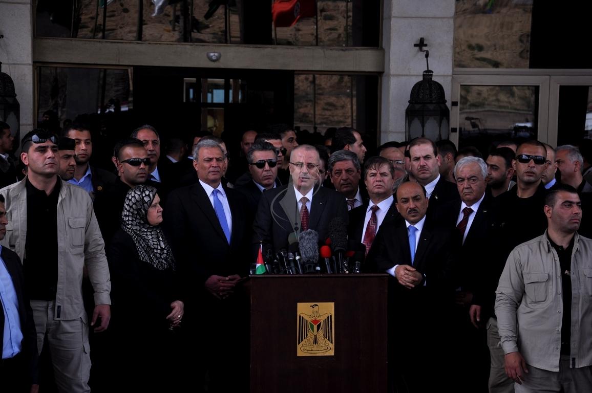 رئيس الوزراء رامى الحمدالله بغزة (1) 