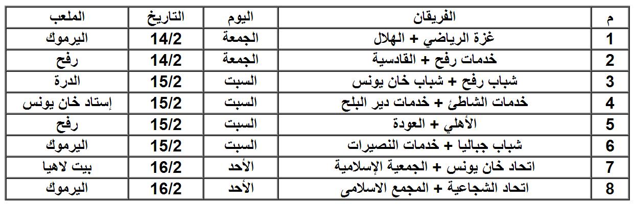 دور الـ16 من كأس غزة.PNG