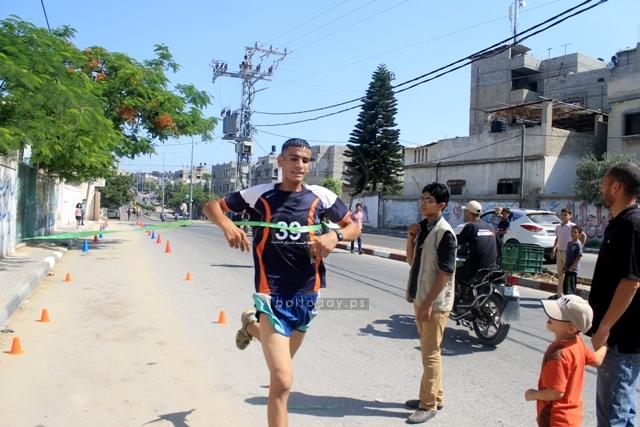 نادي البسمة للمعاقين ينظم سباقا لاختراق الضاحية شمال غزة