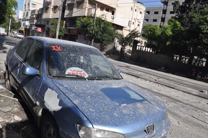 استهداف الصحفيين في العدوان على غزة