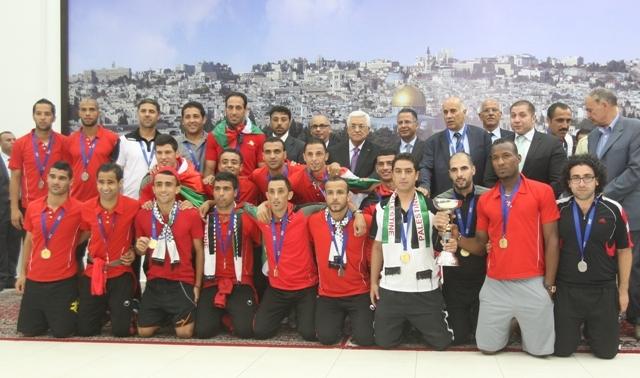 استقبال شعبي ورسمي لبعثة المنتخب الوطني برام الله